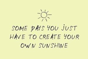 create your on sunshine